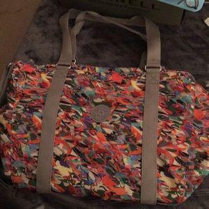 Kipling Paint Splatter Shoulder Tote Bag
